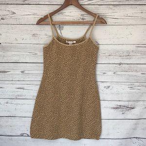 VICTORIA'S SECRET Leopard Print Cami Bodycon Dress